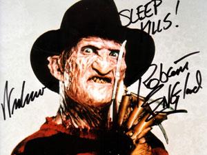 Freddy Krueger in Nightmare on Elmstreet