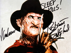 Freddy Krueger in Nightmare on Elmstreet