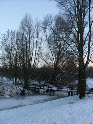 Een wandeling door het park met kerstochtend