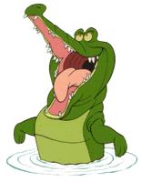De leukste en beroemdste krokodil komt natuurlijk uit de film Peter Pan
