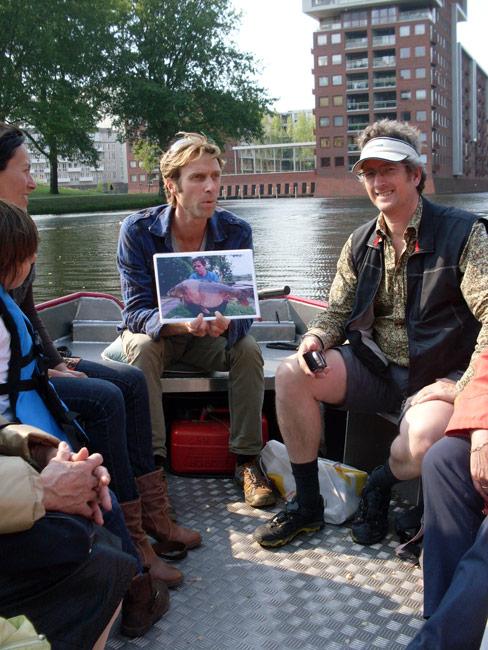 Vaarexcursie Sloterplas: Michiel Schutte en Wouter van der Wulp