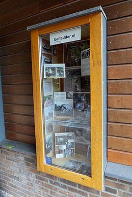 Gefladder krijgt vitrine in NME Centrum, De Drijfsijs